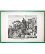 ITALY Roman Villa Restored View - Original Anti... - $14.84