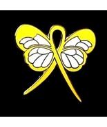 Myxoide Liposarcoma Pin Yellow Awareness Ribbon... - $10.97