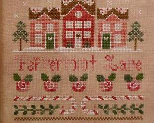 Peppermint Lane holiday cross stitch chart Country Cottage Needleworks
