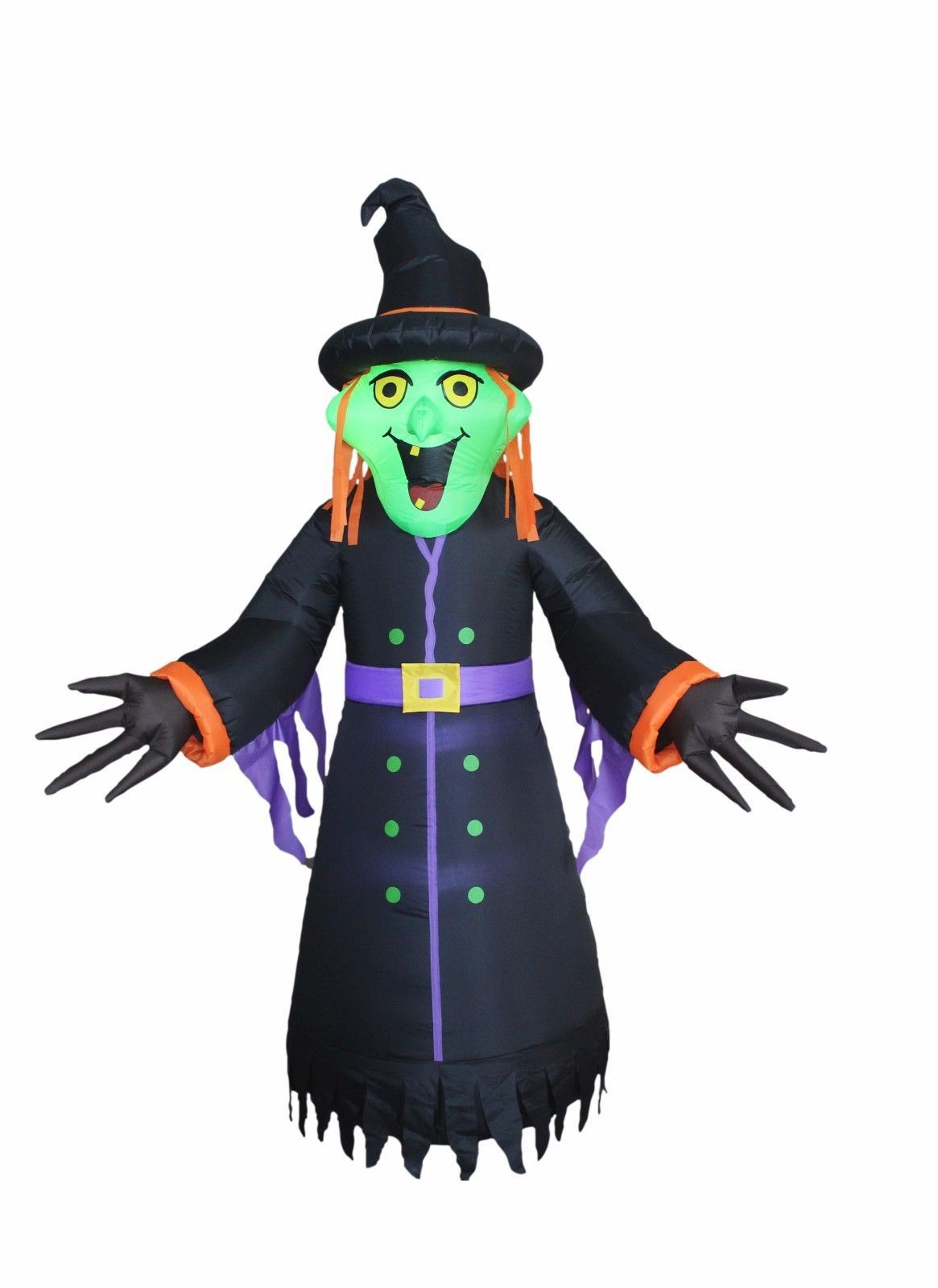 Halloween Inflatable Witch Monster Lights Air Blown Blowup Party Yard Decoration