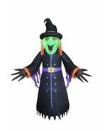 Halloween Inflatable Witch Monster Lights Air Blown Blowup Party Yard De... - $109.07 CAD