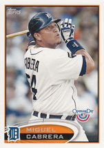 Miguel Cabrera 2012 Topps Opening Day Card #55 - $0.99