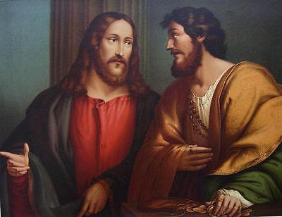 BIBLE Christ & Matthew's Appeal by Pordenone - SUPERB COLOR Litho Print