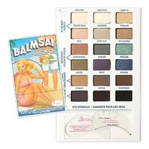 theBalm Balmsai Eyeshadow and Brow Palette with Shaping Stencils  - $42.00