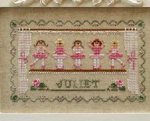 Little Ballerinas cross stitch chart Country Cottage Needleworks