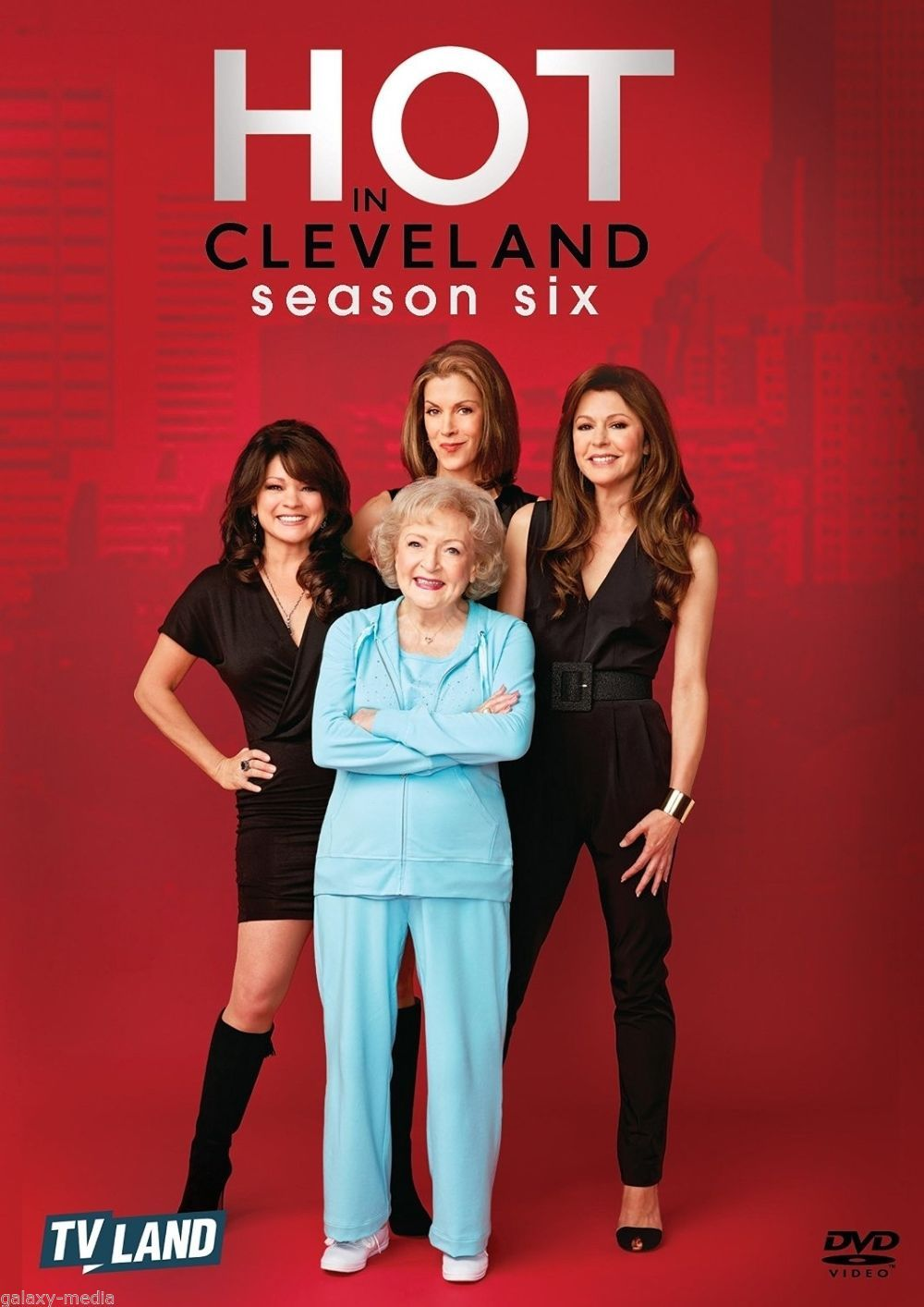 Hot in cleveland the complete sixth season 6  dvd 2016 3 disc set  betty white