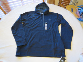 Adidas The Go To Hoodie s07232 navy vista blue jacket L large hoody coat Mens - $75.22