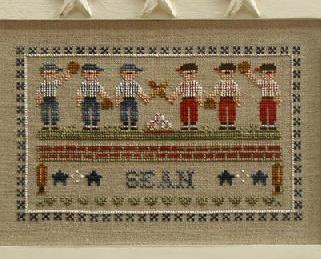 Little League cross stitch chart Country Cottage Needleworks
