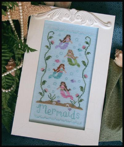 Mermaids cross stitch chart Country Cottage Needleworks