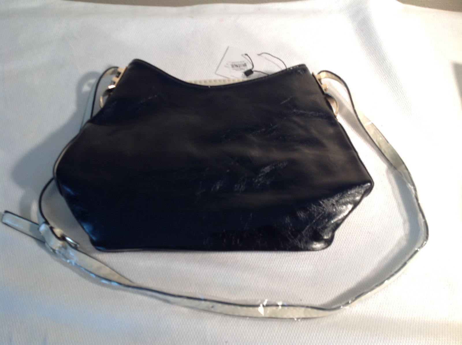 Black Mad Style faux leather Handbag/Pocketbook w/ strap NEW