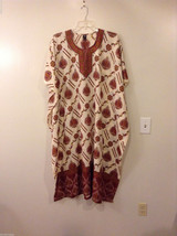 California Breeze Floral Summer Dress Caftan Cover Up, One free size