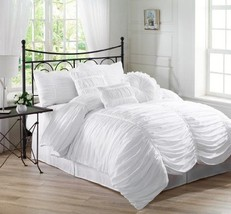 Comforter Set New Beautifully Chic Twin 6 Pcs I... - $92.50
