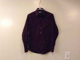 Express 1MX Ladies Dark Burgundy Shirt Modern Fit Buttons Up Size XS (13-13-1/2)
