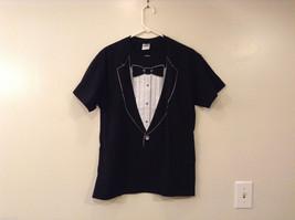 Gildan Boys/Young Men Black with Tuxedo Print on Front T-shirt, size L (boys)