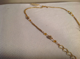 Lot of 2 NEW Jewellery Necklace + Earrings Gold-tone Oxidized CZs image 6