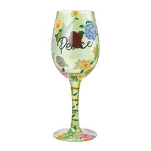 """Peace """"Designs by Lolita"""" Wine Glass 15 o.z. 9""""  Gift Boxed image 1"""