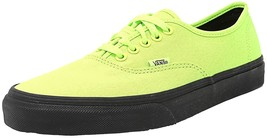 Vans Authentic (Black Outsole) Neon Green, 8 M Us Men / 9.5 M Us Women - $54.95