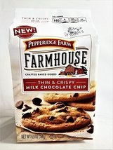 New! Pepperidge Farm Farmhouse Thin & Crispy Milk Chocolate Chip Cookies... - $9.99
