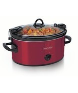 Crock-Pot 6 Quart Oval Cook and Carry Kitchen Slow Cooker New, Red - £32.51 GBP