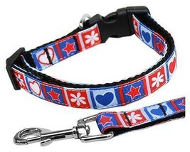 Patriotic Stars & Hearts Dog Collar or Leash * 1 CAT & 5 Dog Sizes * 4th... - €8,77 EUR+