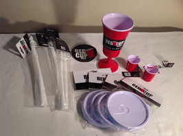 Red Cup Living Lot - Wine Cup, Straws, Lids, Sticker, Keychain, Ornament