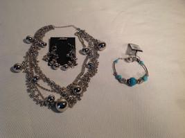 Set of 3 Dangling Jewellery Piece - Necklace, Earrings, Bracelet