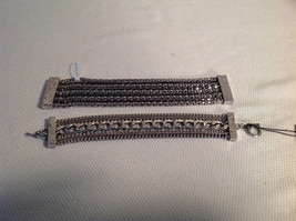 Set of 2 Multistrand Bracelets, Silver tone, Allure, Sheerwater