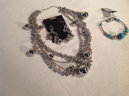 Set of 3 Dangling Jewellery Piece - Necklace, Earrings, Bracelet image 2