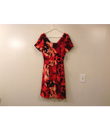 Womens Eva Mendes New York and Company Red w/Big Flowers Dress, size 10 - $79.15