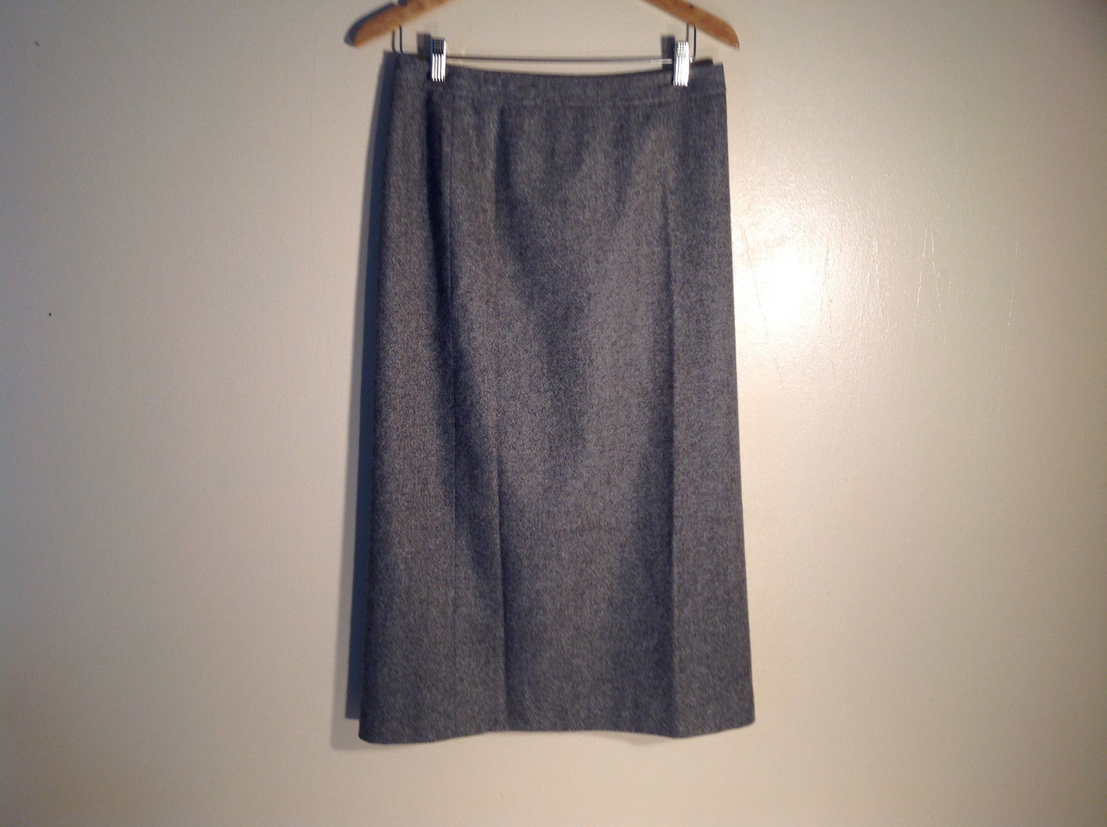 Womens Ann Taylor Stretch Size 10p Grey Skirt Wool Blend Excellent