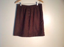 Womens Brown Christopher Banks Skirt Size 10 Velvety Excellent