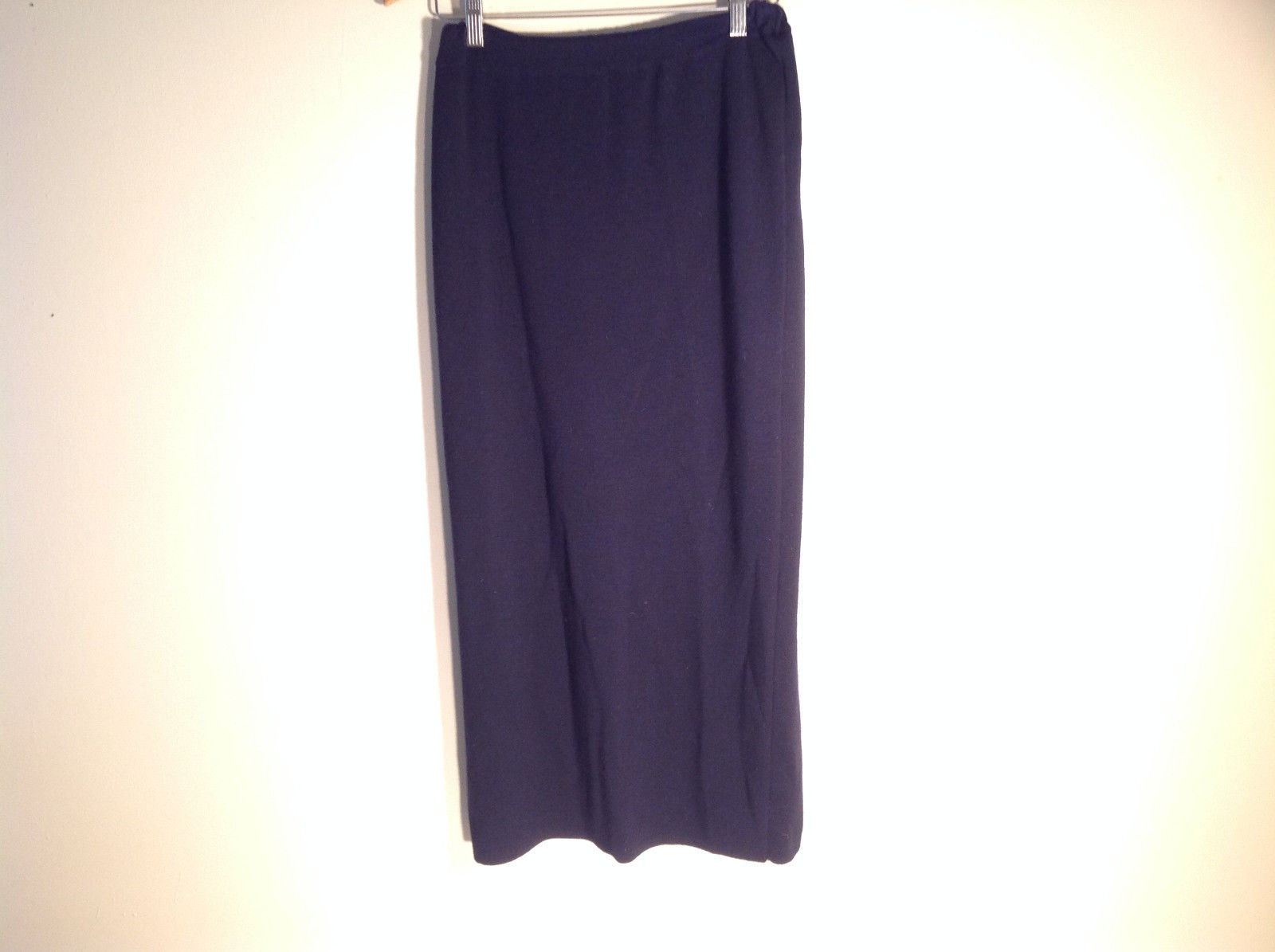"Womens Dark Dark Blue Long Stretchy Skirt ""Pringle"" Pure wool Scotland"