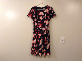 Womens Eva Mendes New York and Company Black w/Red Flowers Dress, size 10