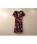 Womens Eva Mendes New York and Company Black w/Red Flowers Dress, size 10 - $79.15