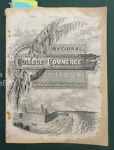 1885 antique COLLEGE OF COMMERCE phila pa BRYANT-STRATTON COLLEGE CATALO... - $123.70