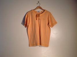 Womens Karen Scott Size XL t-shirt orange-yellow w/ white stripes excellent