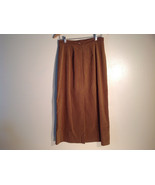 Womens Long Brown Van Heusen Size 10 Skirt Excellent Velvety - $39.99