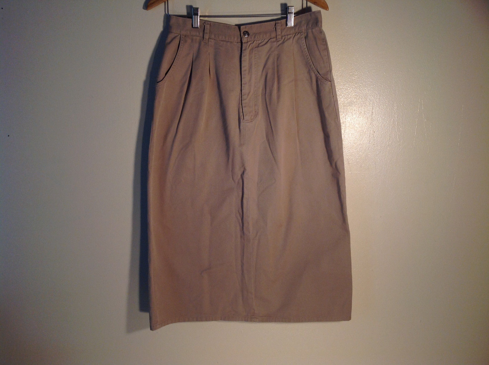 Womens Tan Averroe Skirt Size 14 Cotton Great Condition