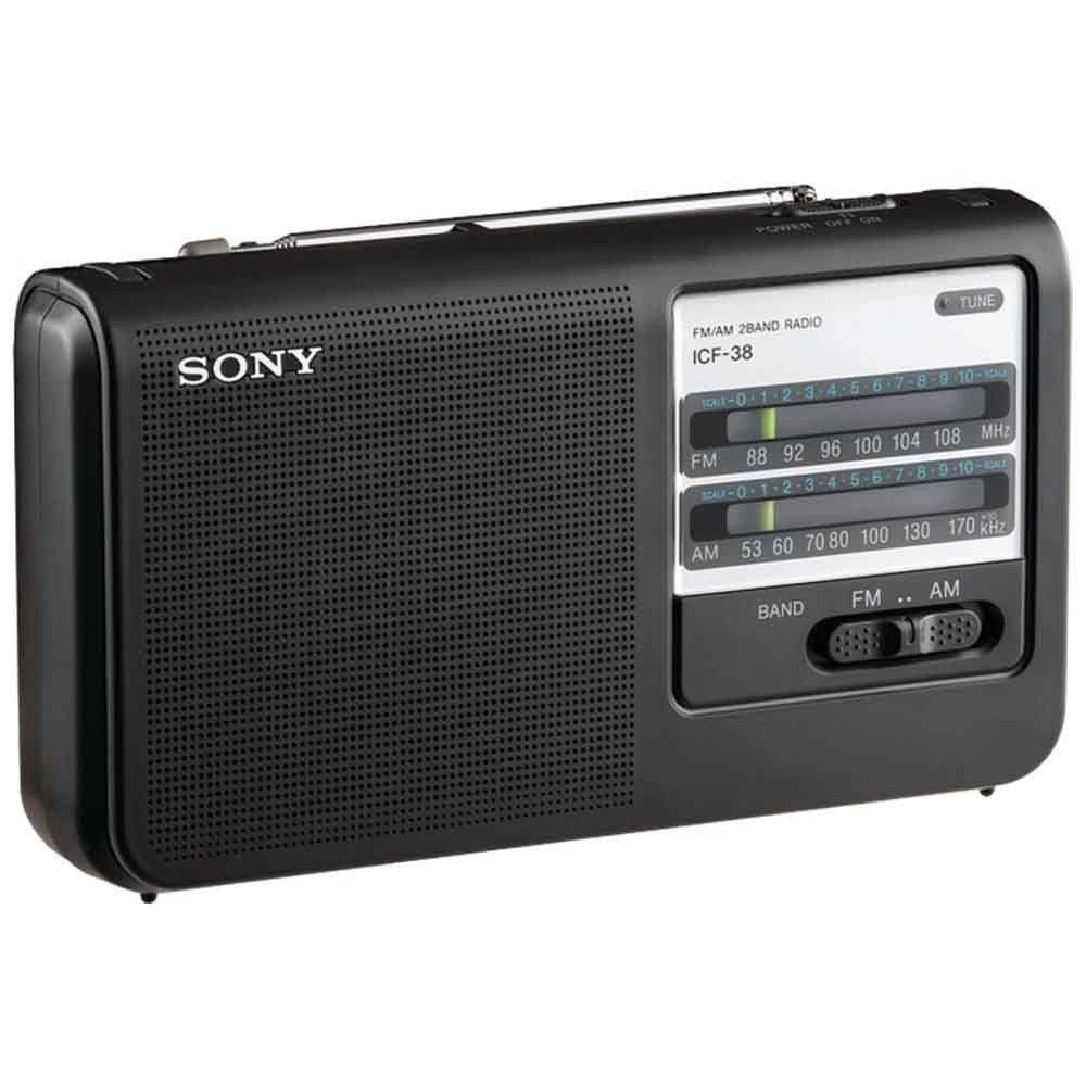 hot sale sony icf38 portable am fm radio portable am fm radios. Black Bedroom Furniture Sets. Home Design Ideas