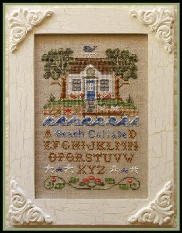 Beach Cottage cross stitch chart Country Cottage Needleworks