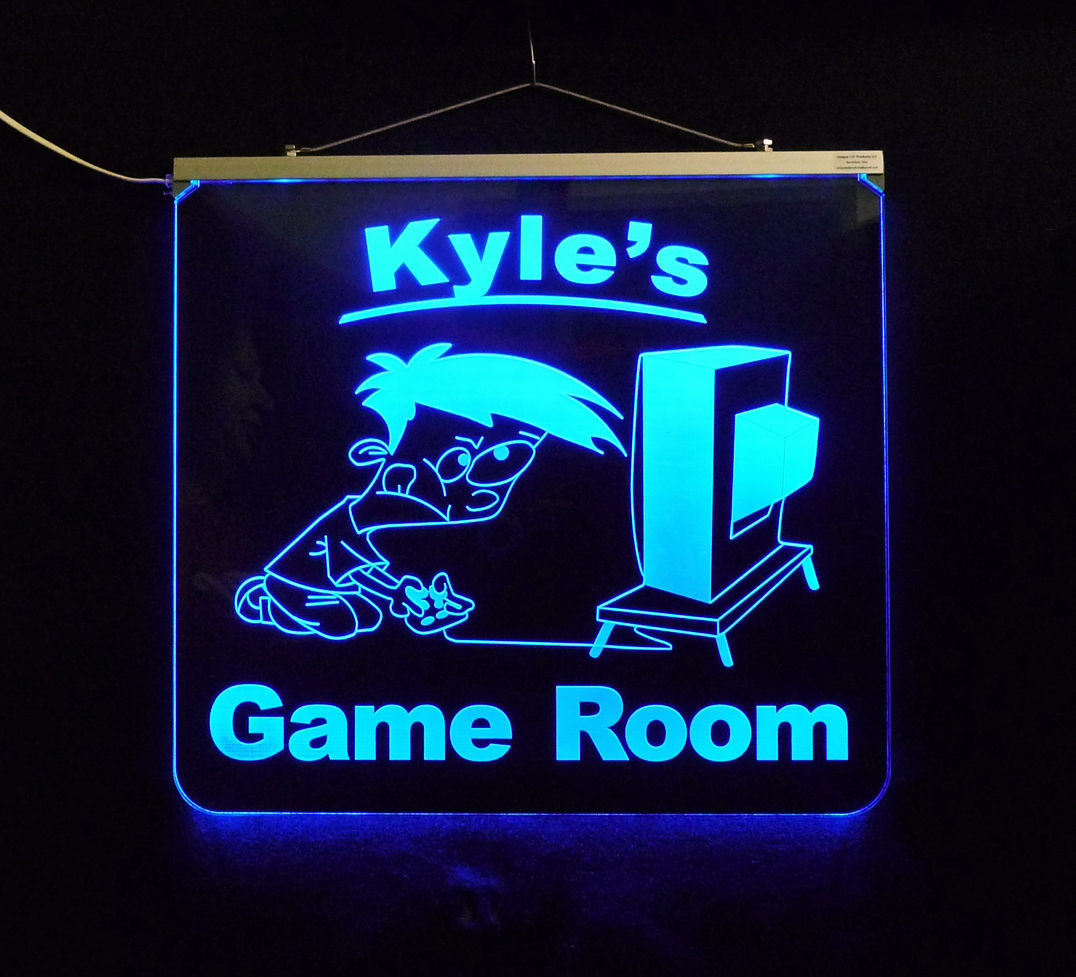 Primary image for Personalized Game Room, Man Cave, Garage, Bar, LED Sign
