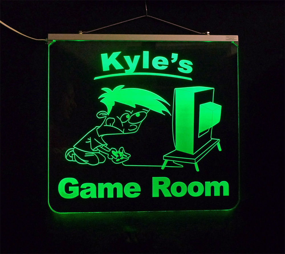 Personalized Game Room, Man Cave, Garage, Bar, LED Sign image 2