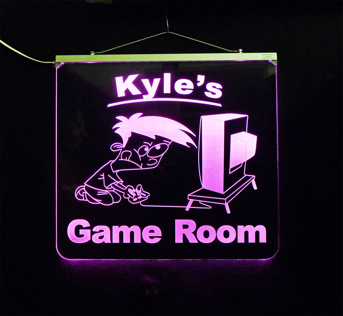 Personalized Game Room, Man Cave, Garage, Bar, LED Sign image 5