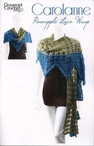 Carolanne Pineapple Lace Wrap All Sizes Gourmet Crochet Pattern 30 Days To Pay - $8.07