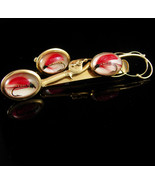 Fly Fish Lure Cufflinks Fishing Rod Retirement gift Vintage Bubble Glass... - $245.00
