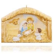 The First Christmas 2015 Hallmark Book & Ornament  Nativity Jesus Angel ... - $19.74