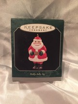 New 1998 Hallmark Miniature Ornament - Holly Jolly Jig - Santa Claus - #QXM4266 - $4.80