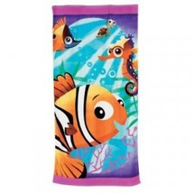 "Disney Store ""Finding Nemo"" Girl Beach Towel 30x60 - Squirt, Sheldon, Ta... - $17.75"