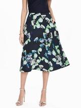 Banana Republic Bold Floral Midi Skirt, Preppy Navy, NWT - $128.00