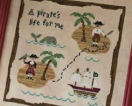 A Pirate's Life cross stitch chart Country Cottage Needleworks
